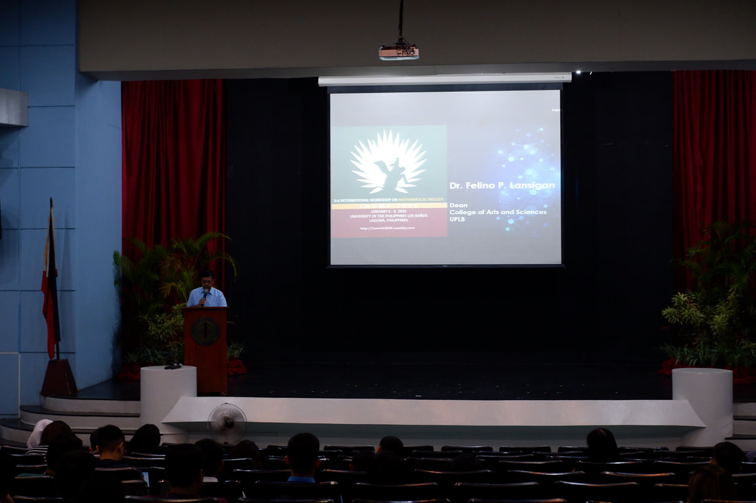 CAS Dean Dr. Felino Lansigan welcomes IWOMB participants