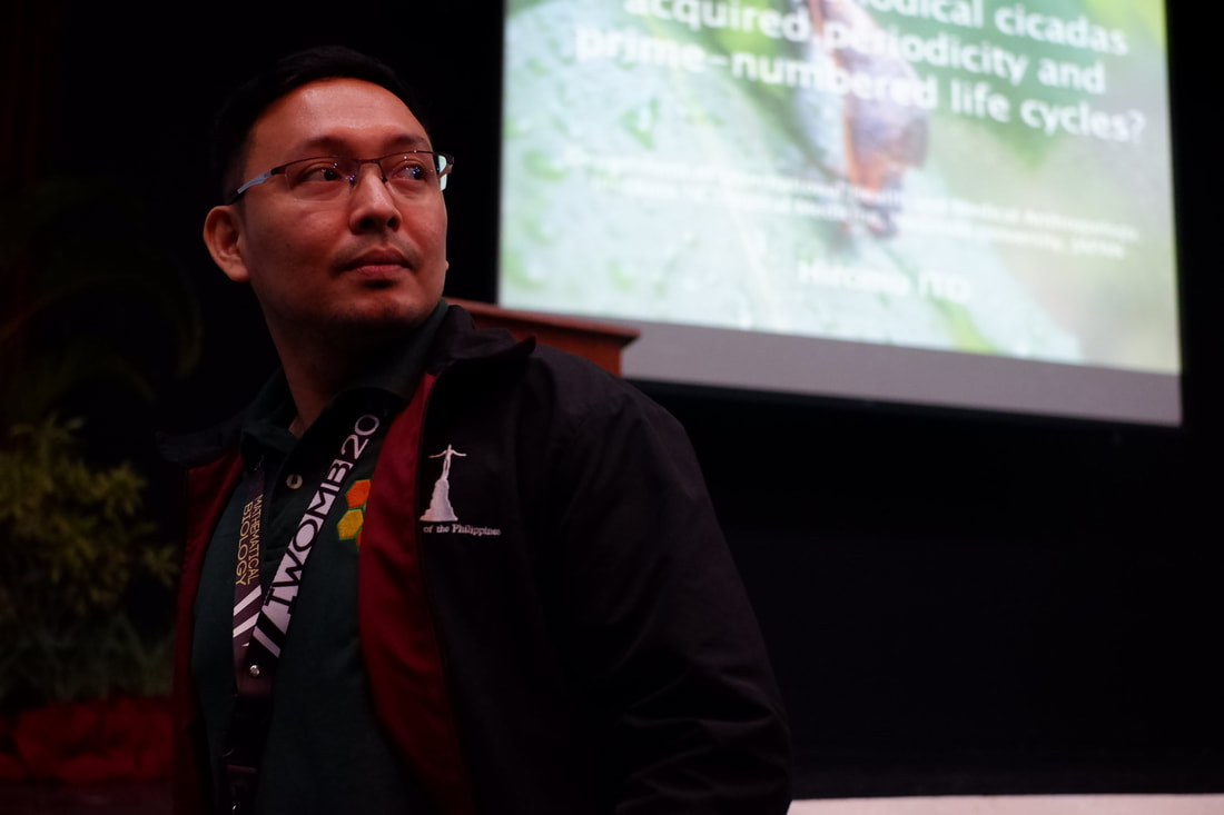 Dr. Jomar Rabajante, one of the Co-chairs of IWOMB 2020, overseeing the event
