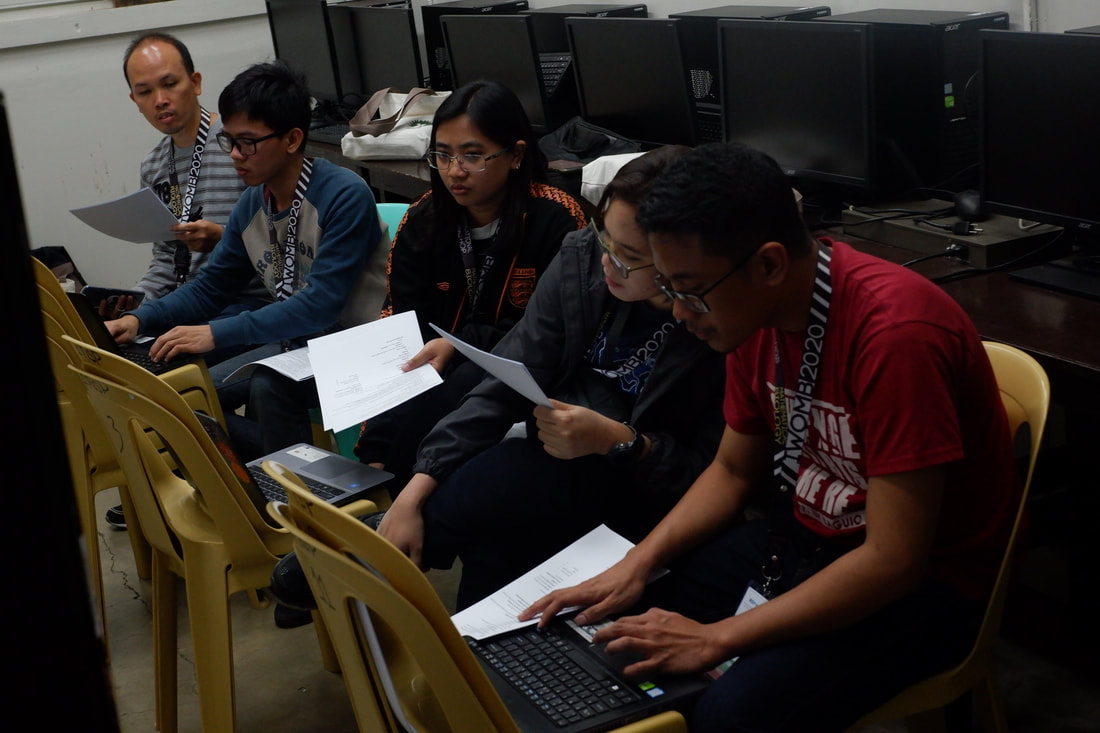 Students during the workshop