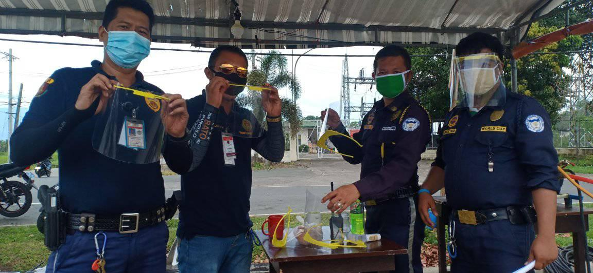 Faceshields produced from the IMSP Fab Lab distributed to beneficiaries in UPF in UPLB.